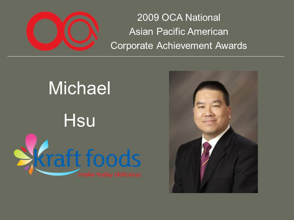 2009 OCA National Asian Pacific American Corporate Achievement Awards Michael Hsu