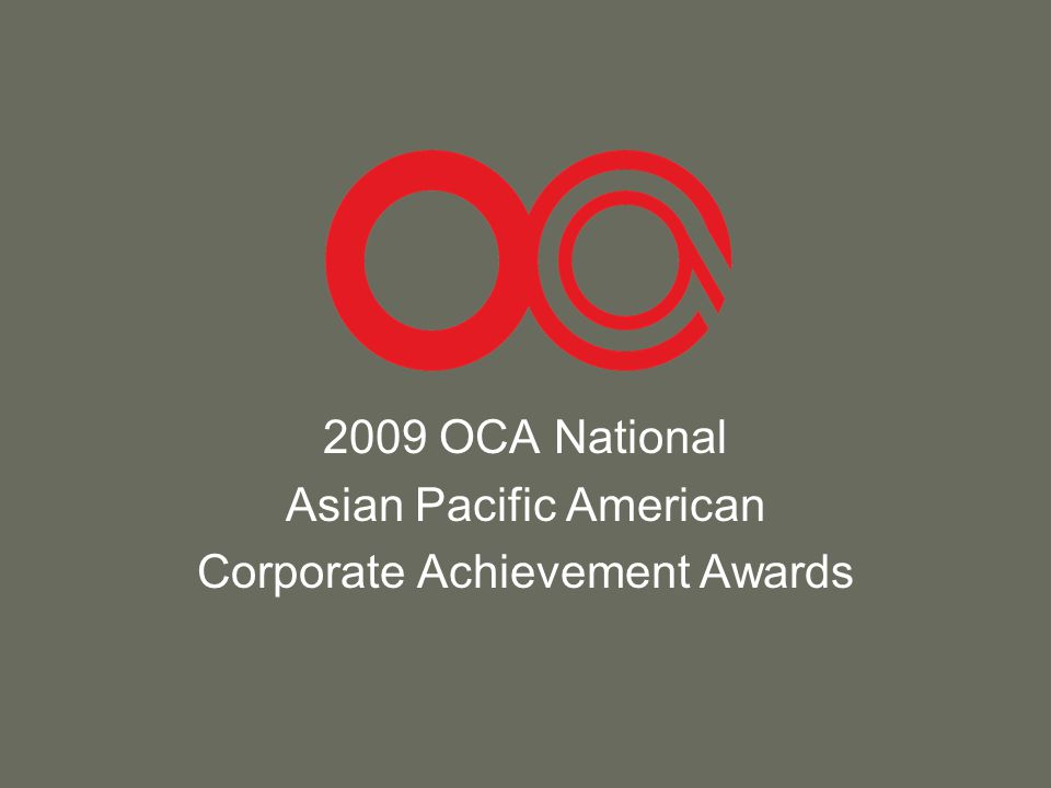 2009 OCA National Asian Pacific American Corporate Achievement Awards