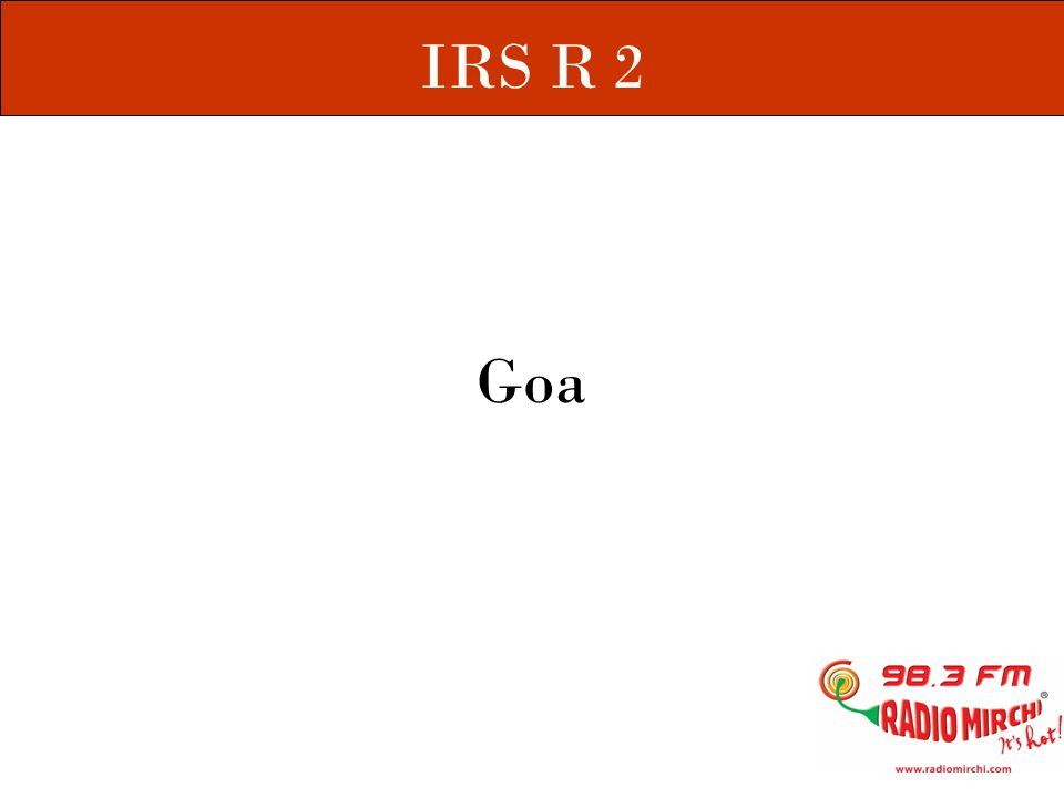 IRS ( Indian Readership Survey ) - The largest continuous independent study done in the country.