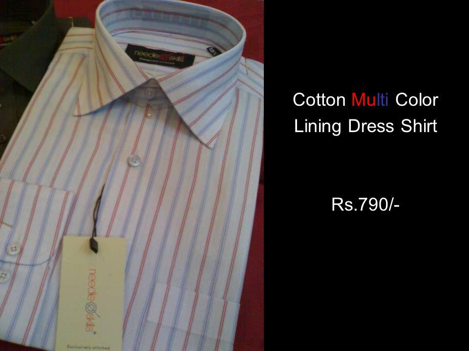 Cotton Multi Color Lining Dress Shirt Rs.790/-