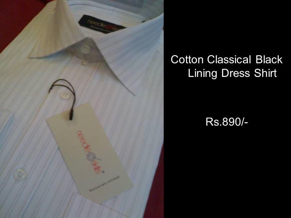 Cotton Classical Black Lining Dress Shirt Rs.890/-