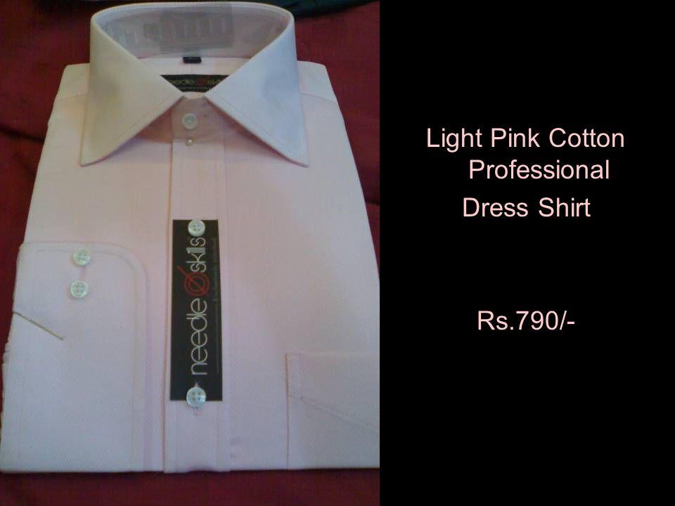 Light Pink Cotton Professional Dress Shirt Rs.790/-