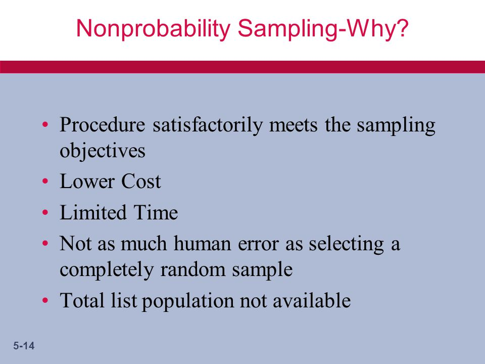 5-14 Nonprobability Sampling-Why.