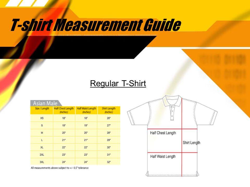 T-shirt Measurement Guide Regular T-Shirt