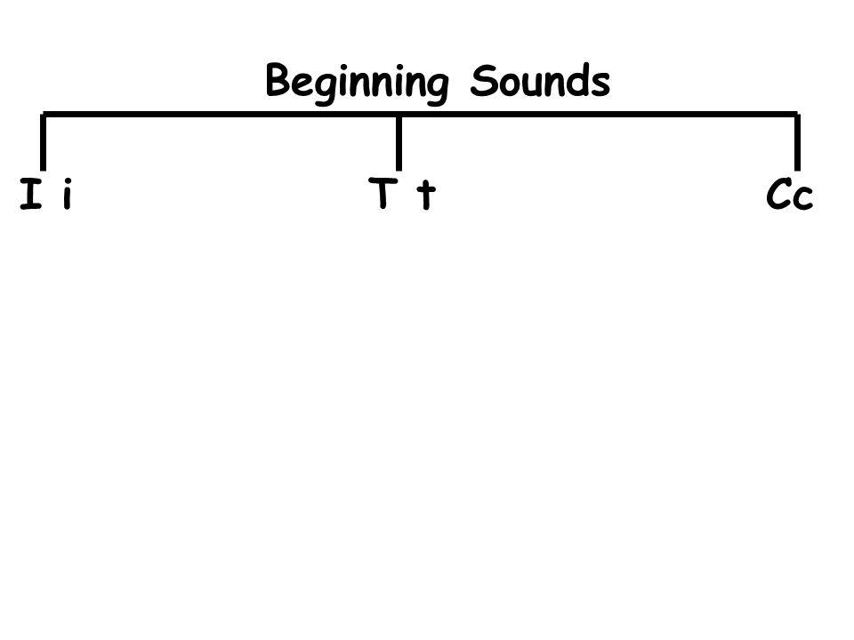 I iT tCc Beginning Sounds