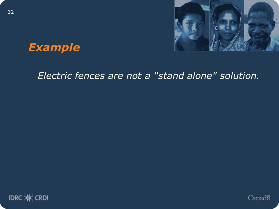 "32 Example Electric fences are not a ""stand alone"" solution."