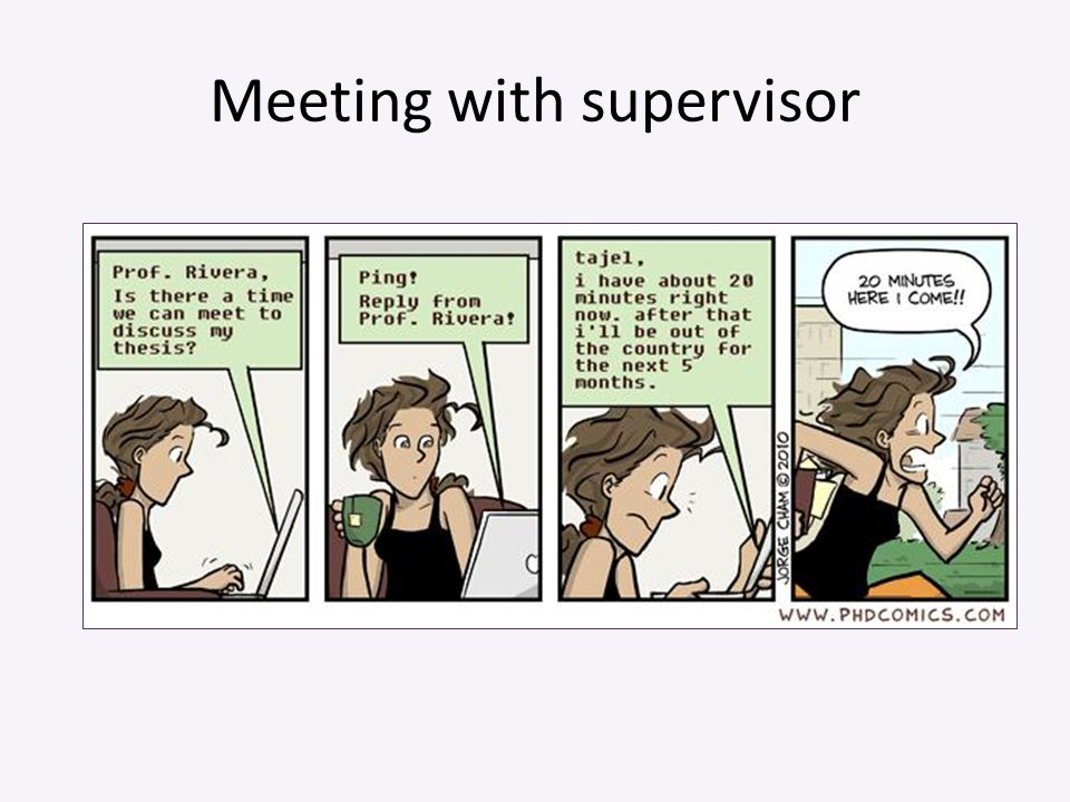 Meeting with supervisor