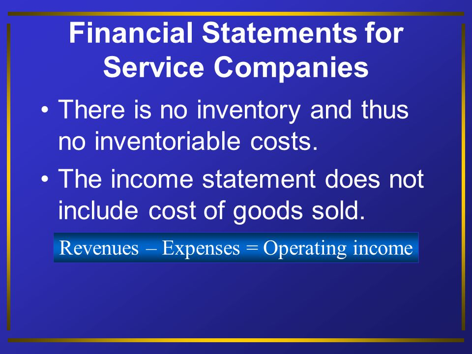 Prepare the financial statements of a manufacturing company. Objective 5