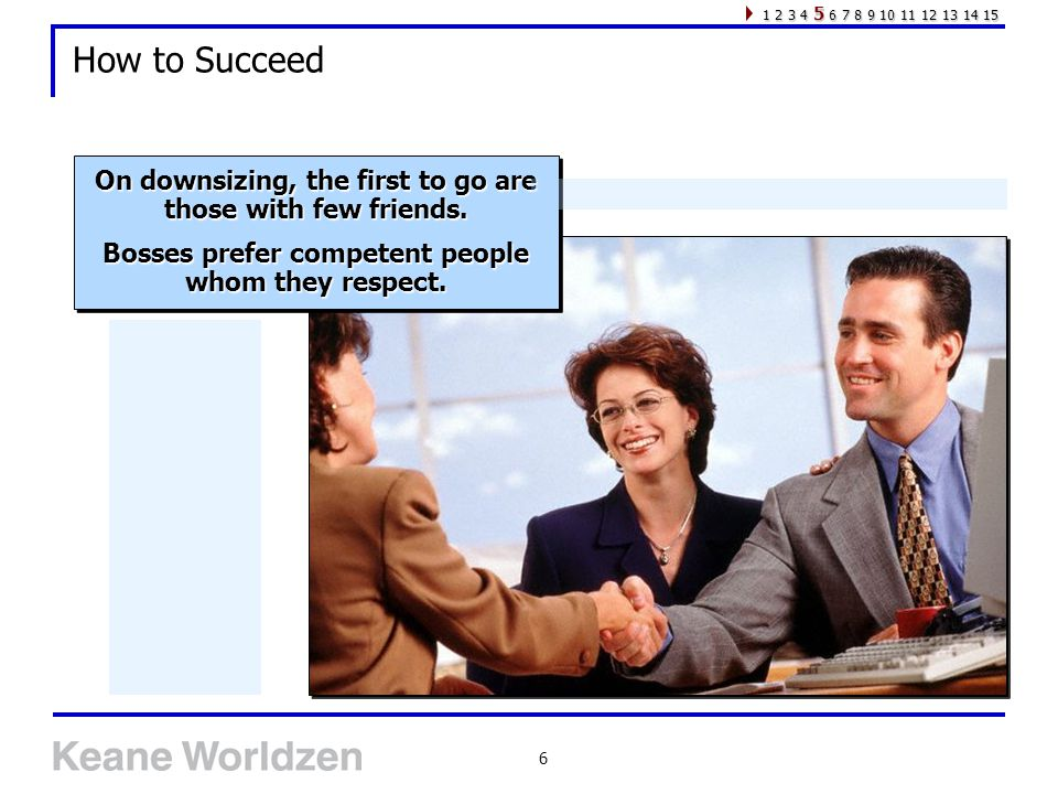 6 How to Succeed On downsizing, the first to go are those with few friends.