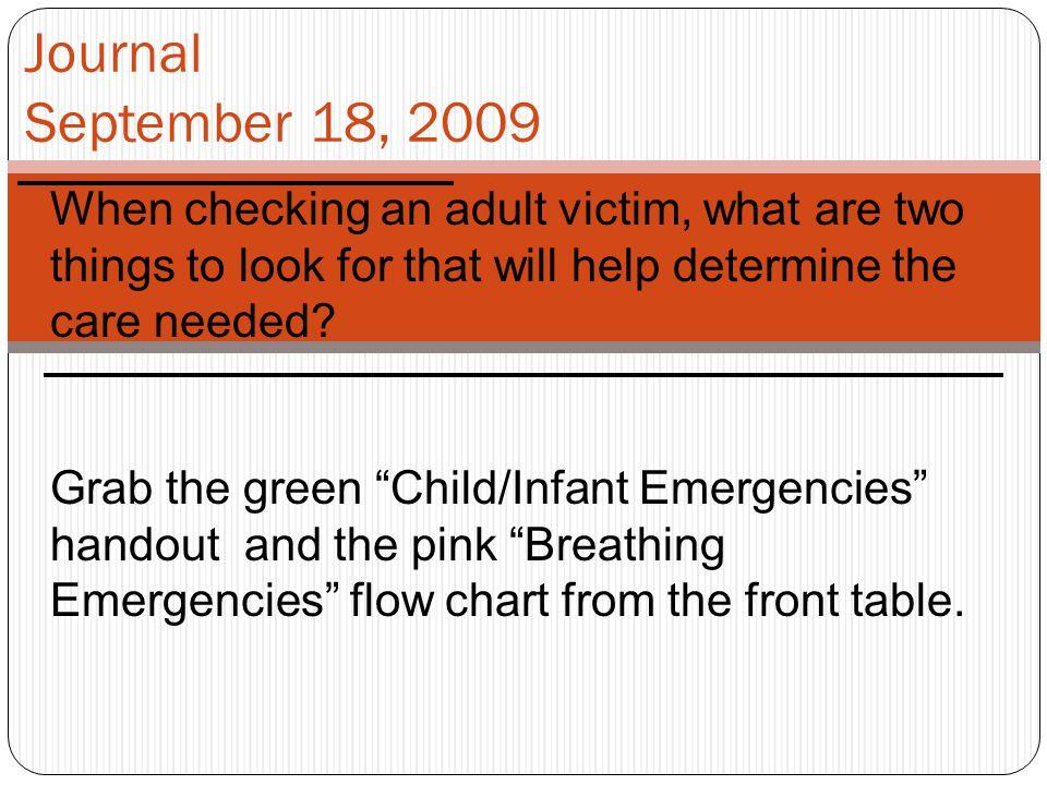 Health 10 September 18, 2009 Child – Infant CPR