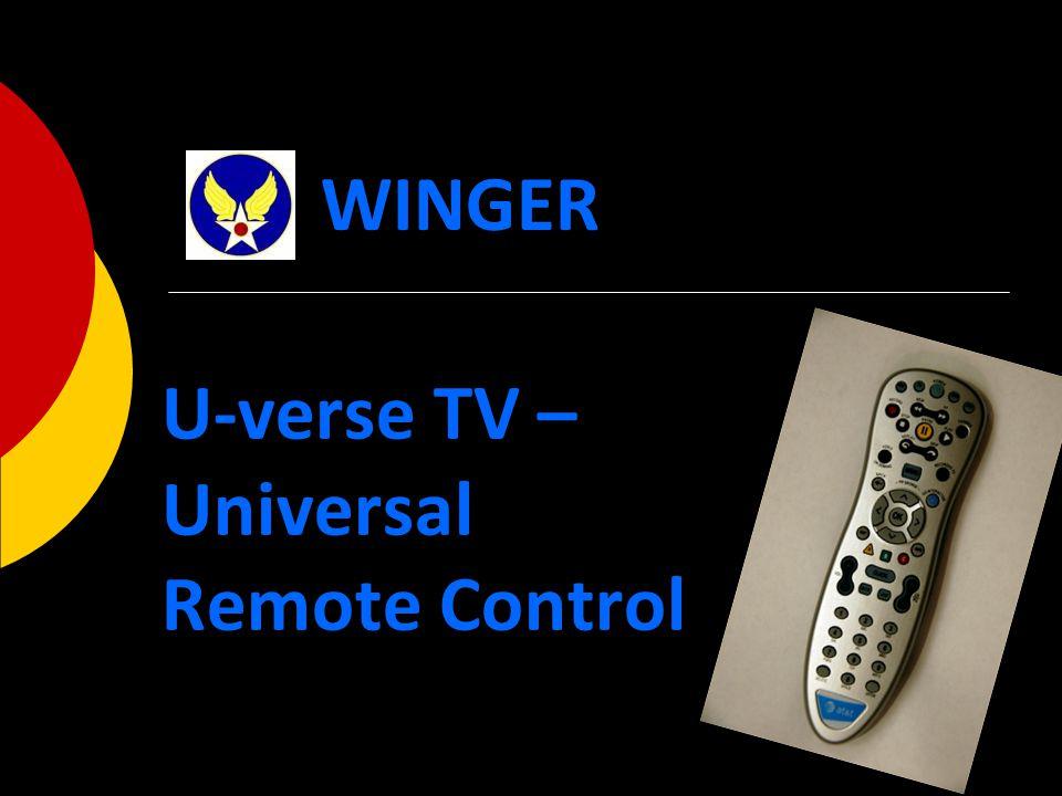 U-verse TV – Universal Remote Control WINGER