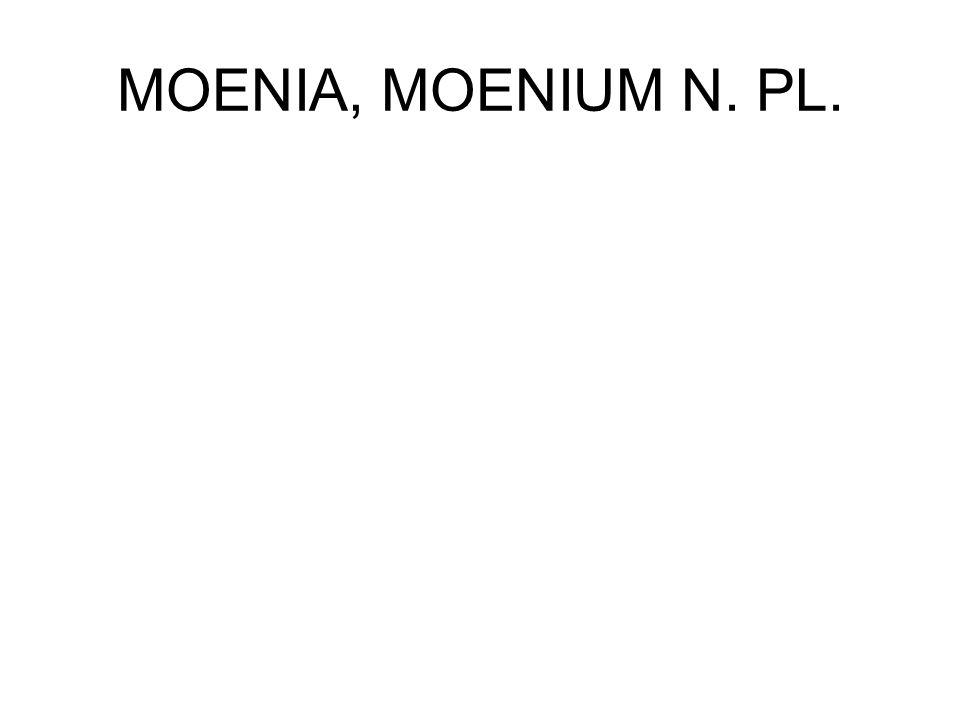 MOENIA, MOENIUM N. PL.