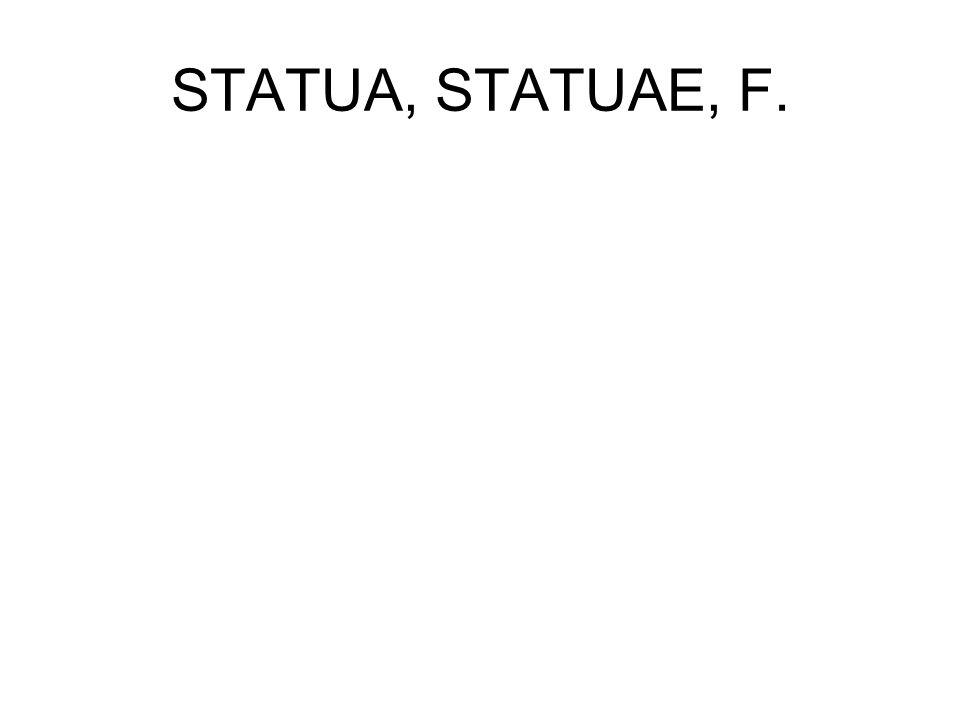 STATUA, STATUAE, F.