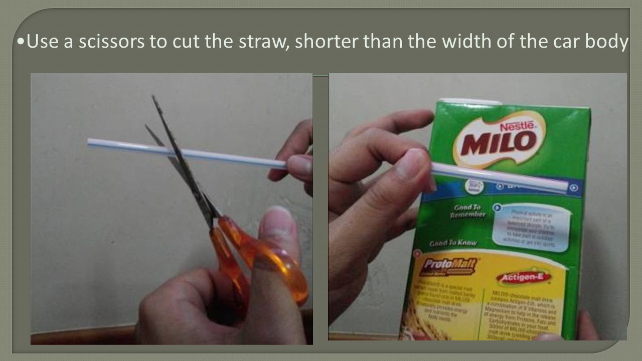 Insert a satay stick into the punctured bottle cap, then insert the cut straw into it