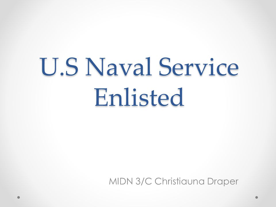U.S Naval Service Enlisted MIDN 3/C Christiauna Draper