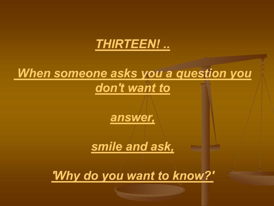 THIRTEEN!..