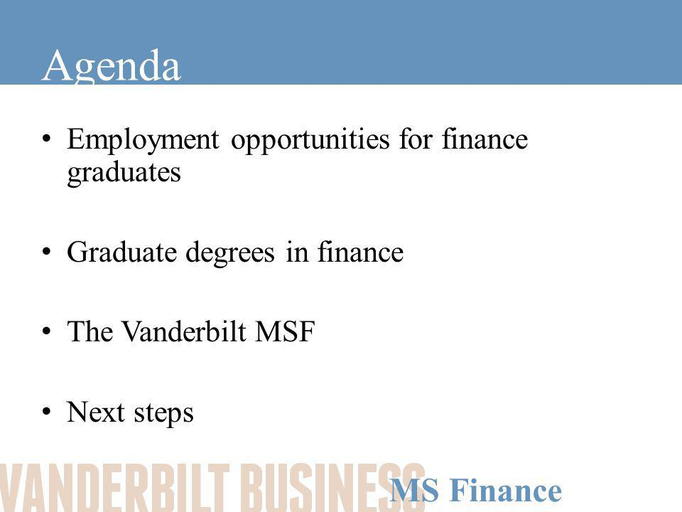 MS Finance The Vanderbilt MS Finance Employment Opportunities for Finance Graduates