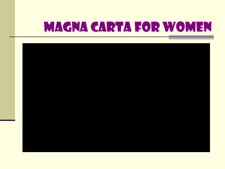 WOMEN EMPOWERMENT Under R.A.