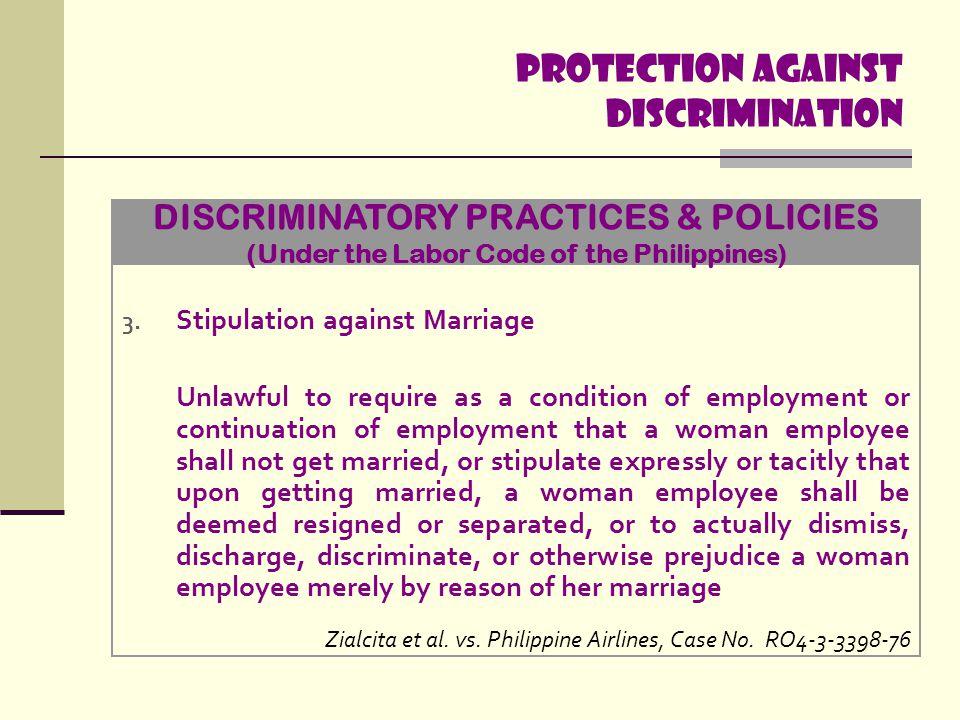 Protection Against discrimination 4.
