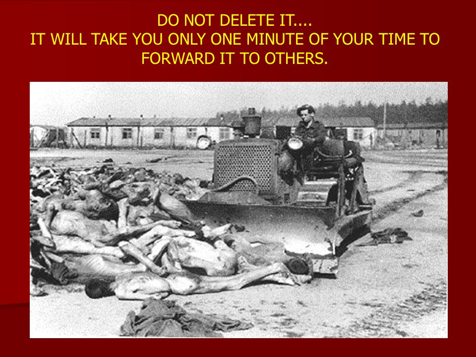 DO NOT DELETE IT.... IT WILL TAKE YOU ONLY ONE MINUTE OF YOUR TIME TO FORWARD IT TO OTHERS.