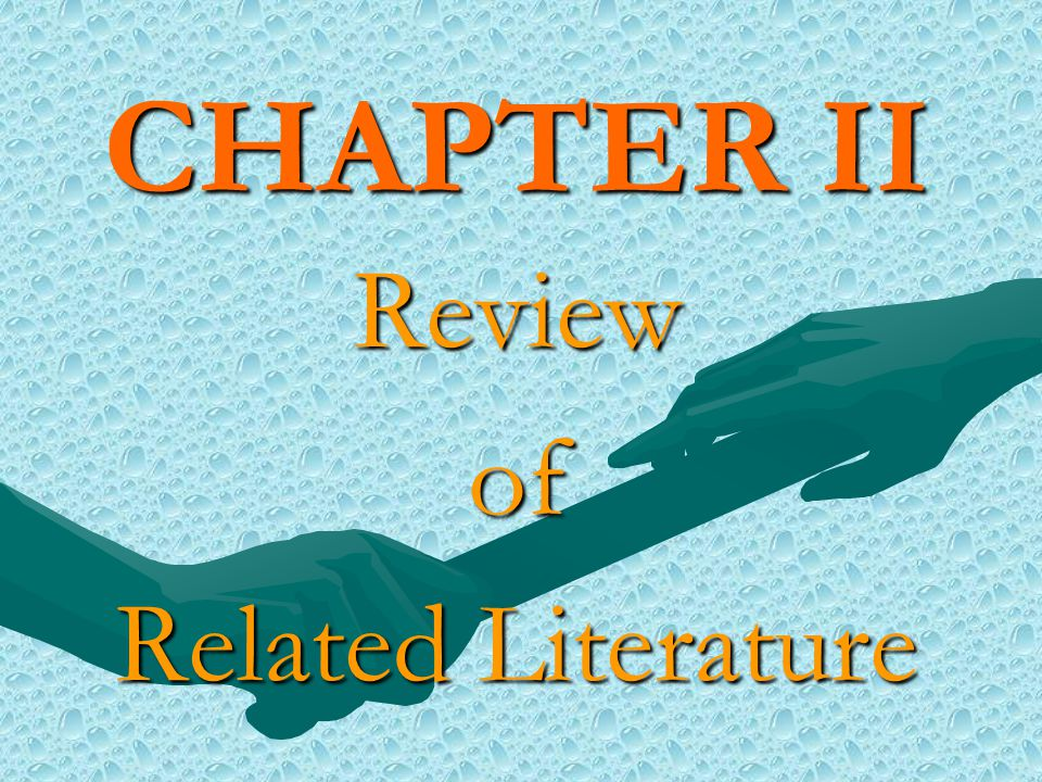 CHAPTER II Reviewof Related Literature