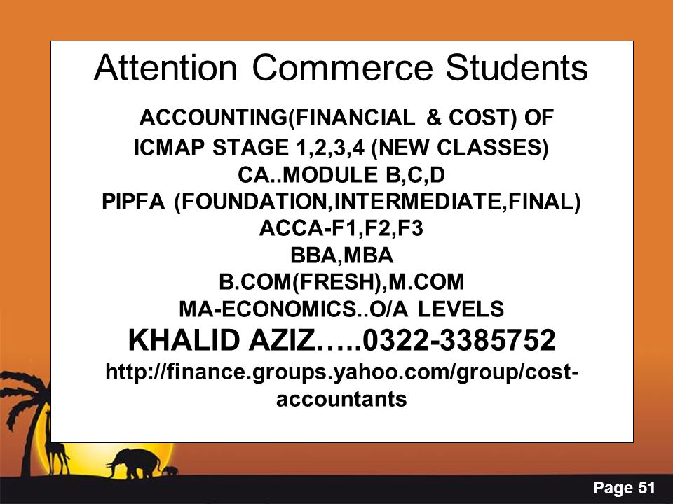 Page 51 Attention Commerce Students ACCOUNTING(FINANCIAL & COST) OF ICMAP STAGE 1,2,3,4 (NEW CLASSES) CA..MODULE B,C,D PIPFA (FOUNDATION,INTERMEDIATE,