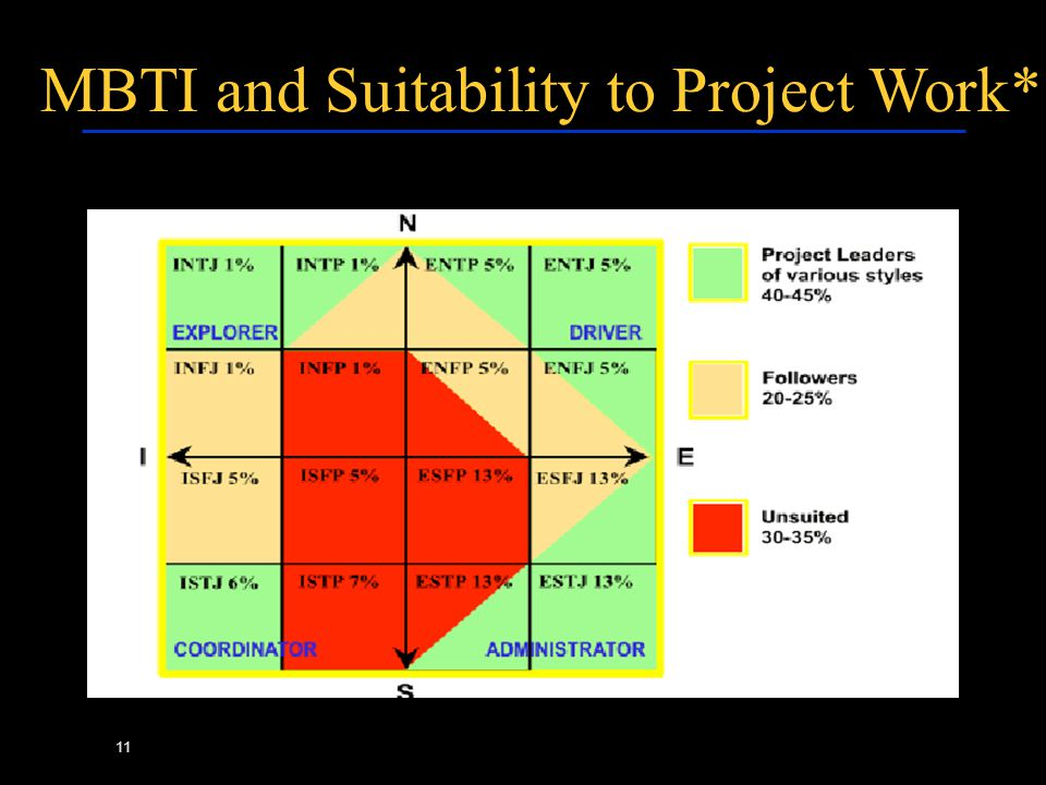 11 MBTI and Suitability to Project Work*