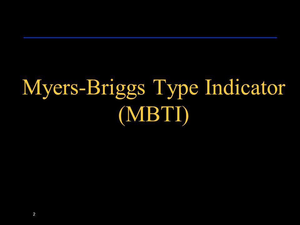 2 Myers-Briggs Type Indicator (MBTI)