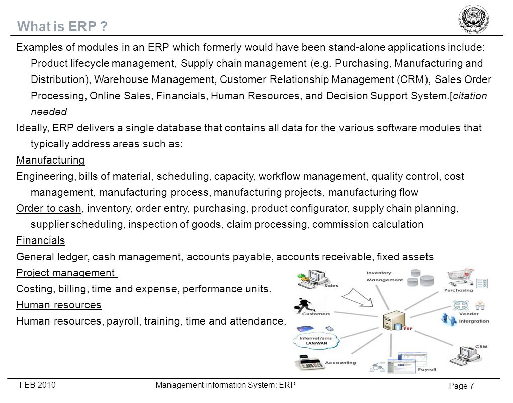 Page 8 FEB-2010 Management information System: ERP A- Introduction Overview B- What is ERP System C- SPIRIDON implementation – Siemens Egypt 1- What is Spiridon 2- Project Plan 3- Change Why, What & How 4- Change Lifecycle 5- Benefits