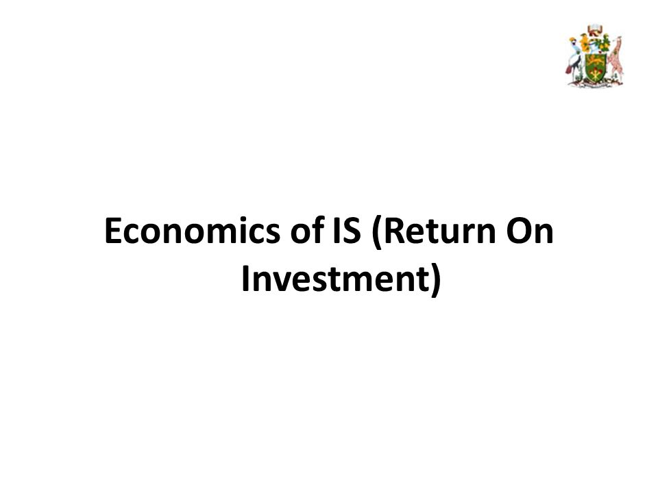 Economics of IS (Return On Investment)
