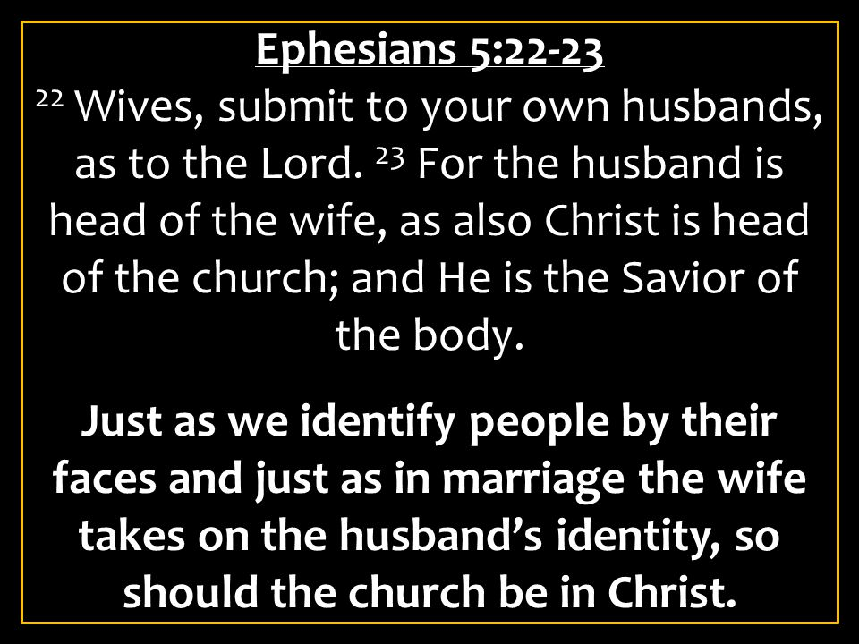Ephesians 5:31-32 31 For this reason a man shall leave his father and mother and be joined to his wife, and the two shall become one flesh. 32 This is a great mystery, but I speak concerning Christ and the church.