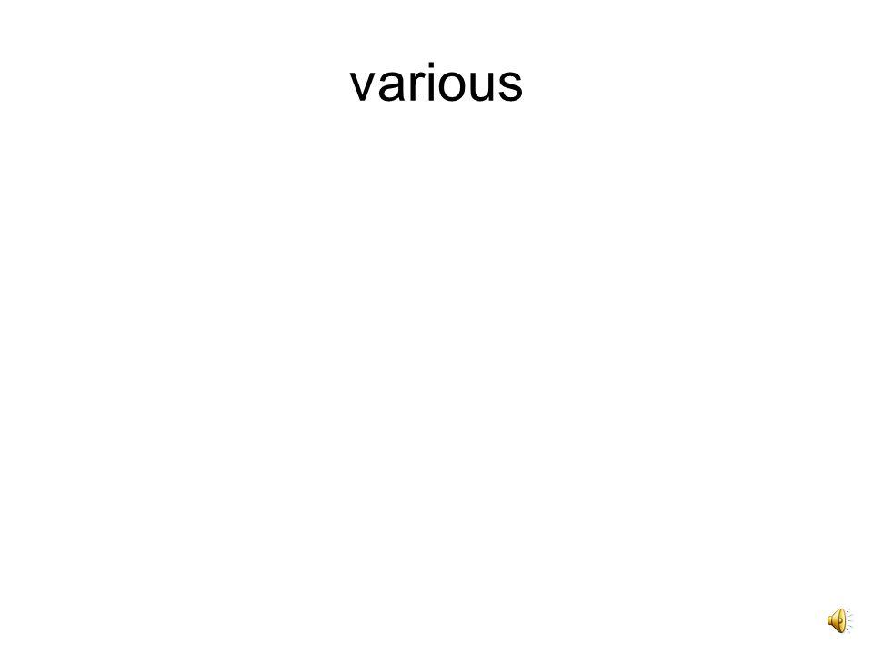 Varius, -a, -um