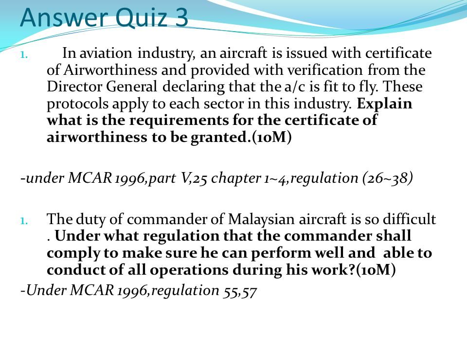 Answer Quiz 3 1.