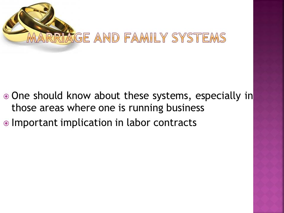  One should know about these systems, especially in those areas where one is running business  Important implication in labor contracts