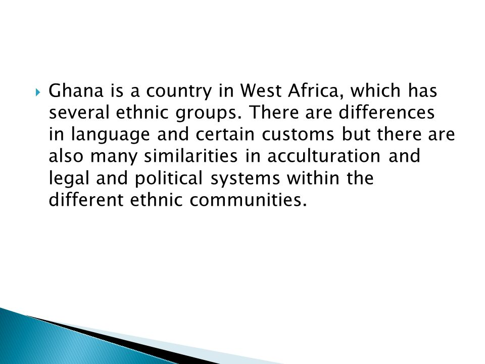  Traditional political systems are based on family, age and the mandate assigned to particular areas of jurisdiction.