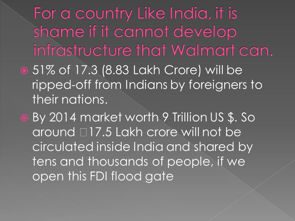  51% of 17.3 (8.83 Lakh Crore) will be ripped-off from Indians by foreigners to their nations.