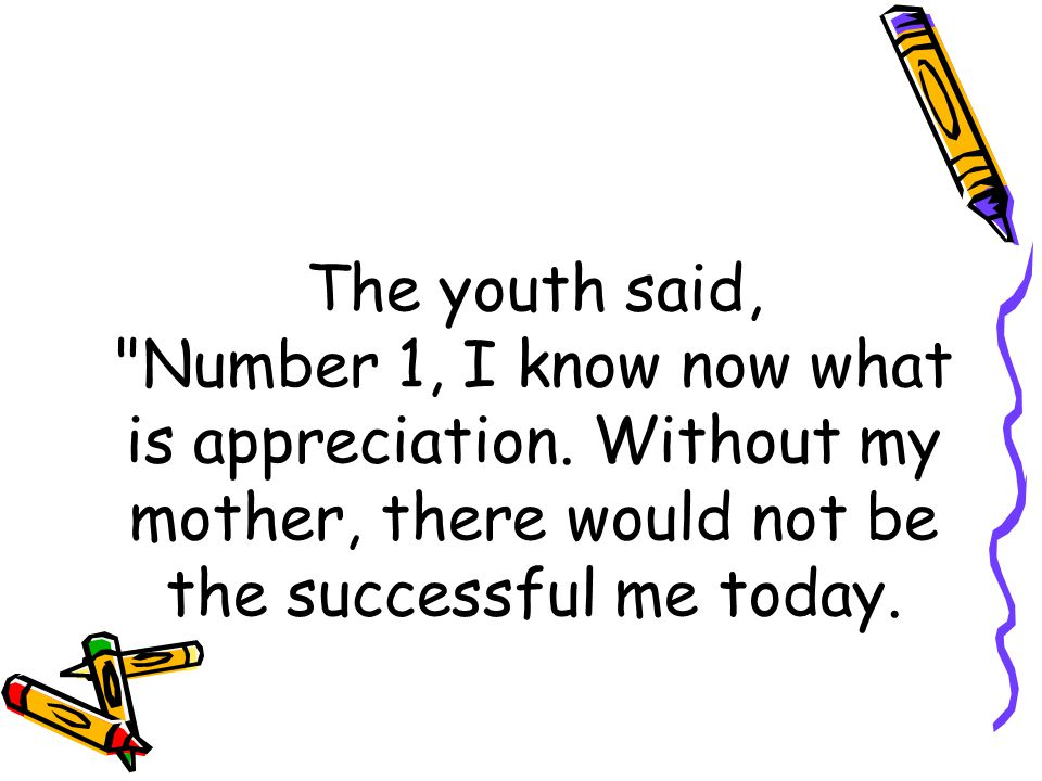 The youth said,