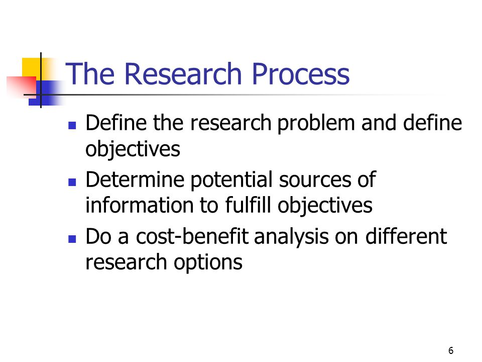 7 The Research Process Cont.