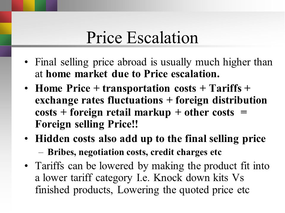 Trade Credit The price quoted depends very much on what credit arrangement can be made. A high price can often be counterbalanced by advantageous trad