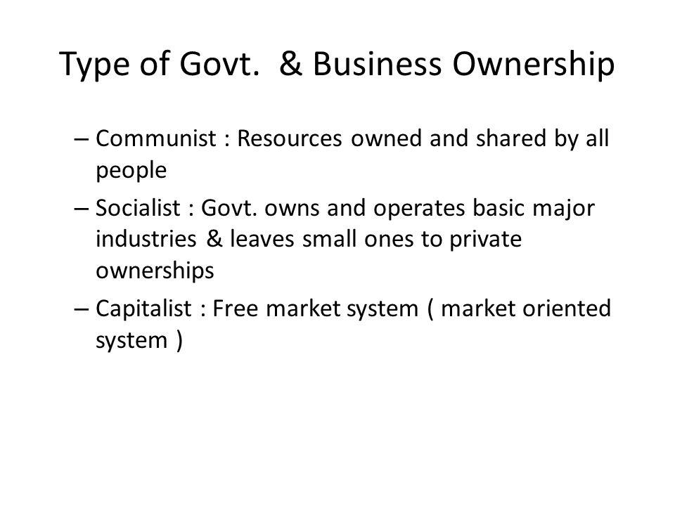 Type of Govt.
