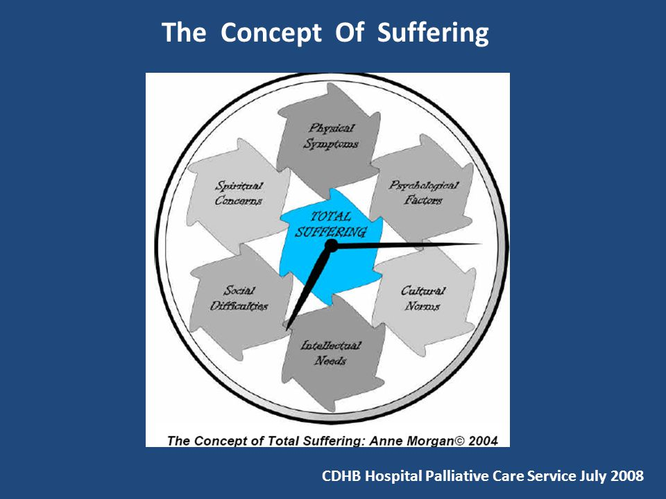 The Concept Of Suffering CDHB Hospital Palliative Care Service July 2008
