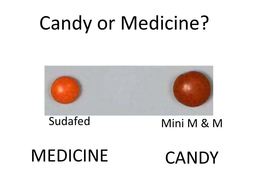 Mini M & M CANDY Sudafed MEDICINE
