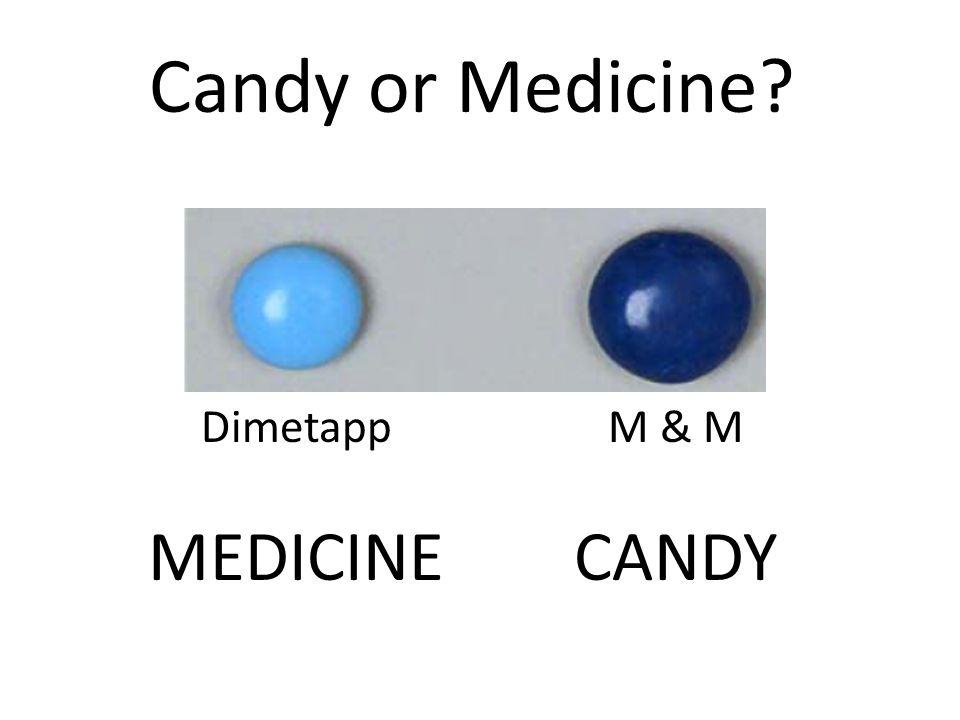 Dimetapp MEDICINE M & M CANDY