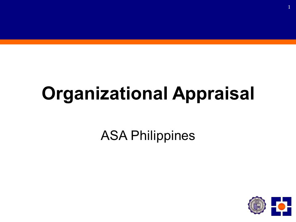 1 Organizational Appraisal ASA Philippines