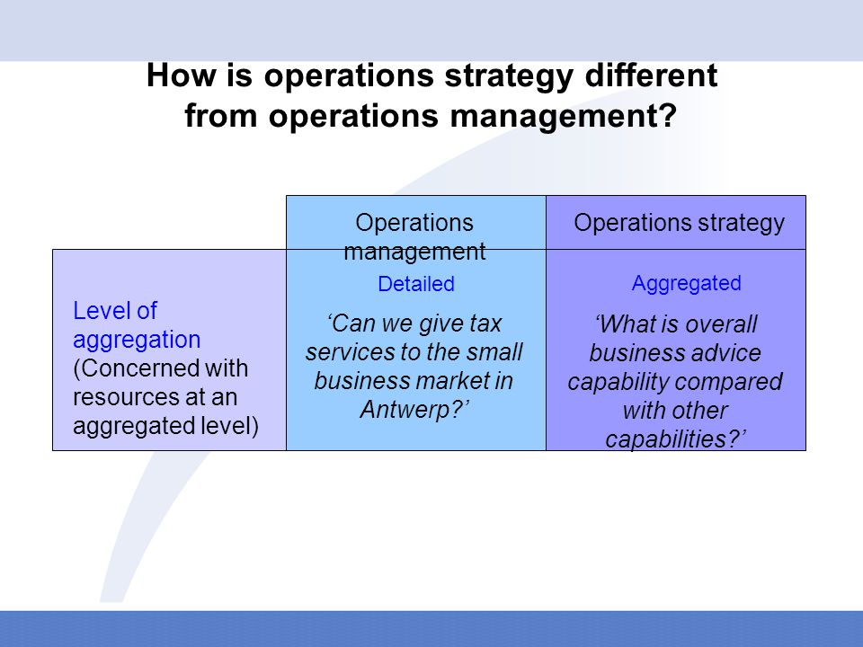 How is operations strategy different from operations management.