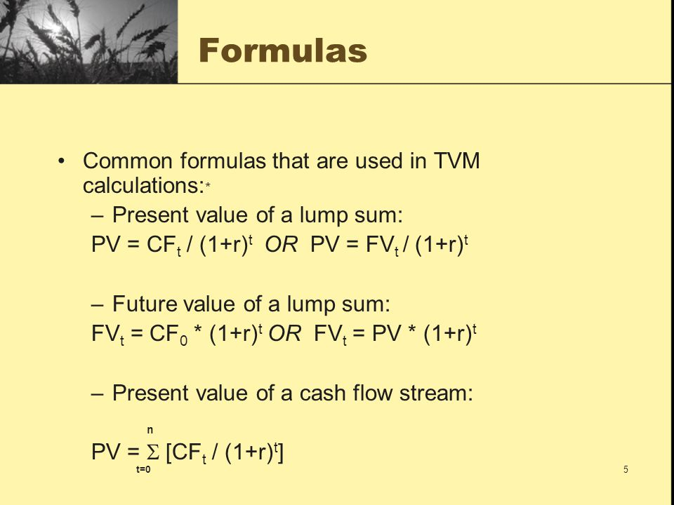 16 Some Things to Note In both of the examples, note that if you were to perform the opposite operation on the answers (i.e., find the future value of $62.09 or the present value of $161.05) you will end up with your original investment of $100.