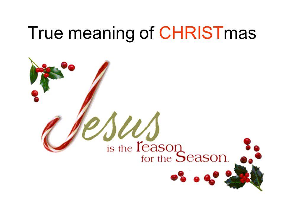 True meaning of CHRISTmas Dr. Joanne R. Miranda