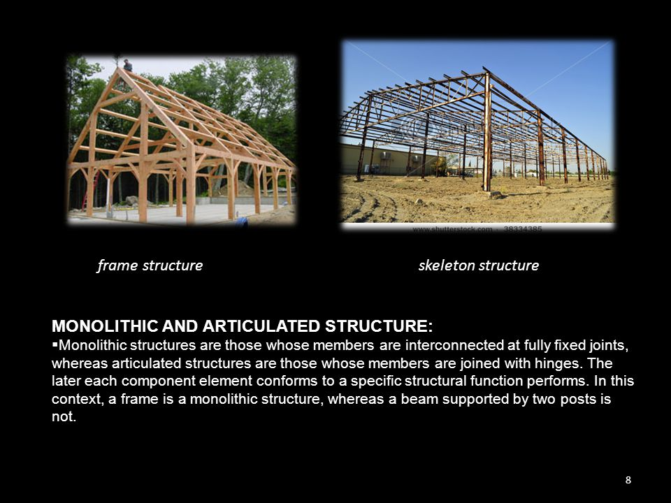 9  In defining a monolithic structure as executing one uniformity of structural function, it is irrelevant whether various materials with different strength properties are present in one and same structure.