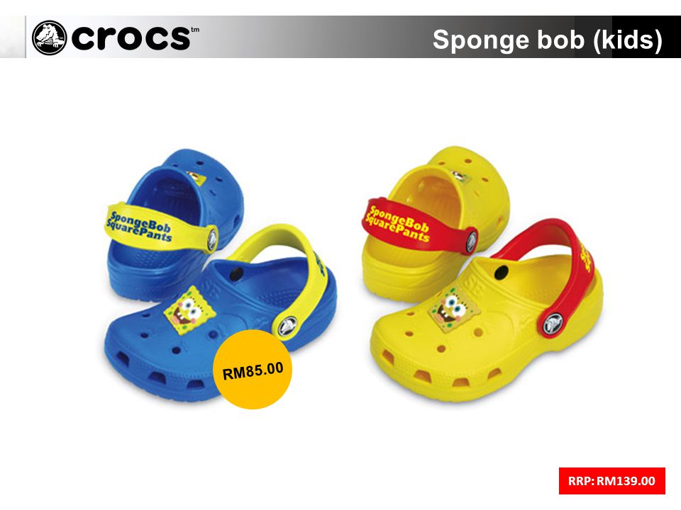 Sponge bob (kids) RRP: RM139.00 RM85.00