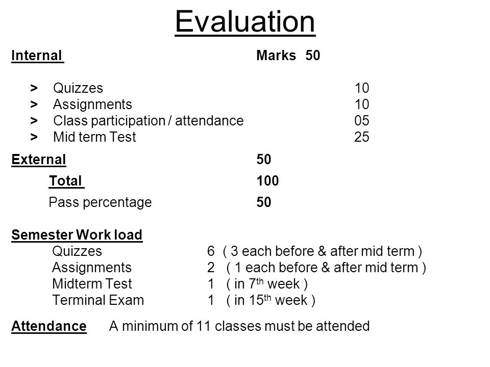 Mid Term Test Will be of one hours duration, and will be fallowed by lecture.